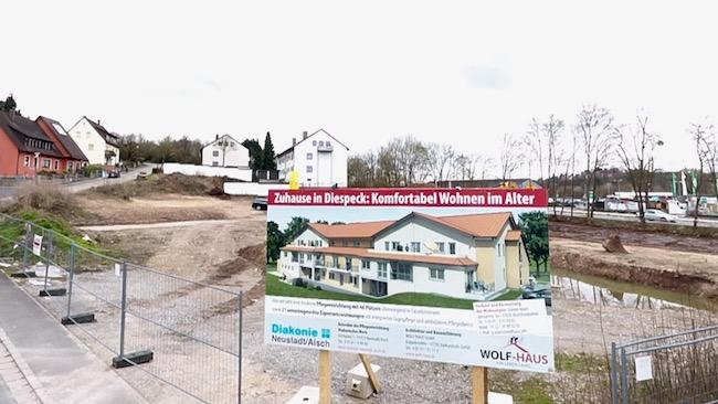 Spatenstich Diespeck, Service-Wohnen, Seniorenheim, Pflegeheim